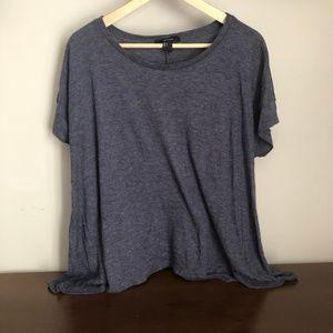 Soft blue Forever 21 short-sleeve shirt